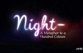 Night Shayari, Shayari on night, A Metaphor to a Hundred Colours