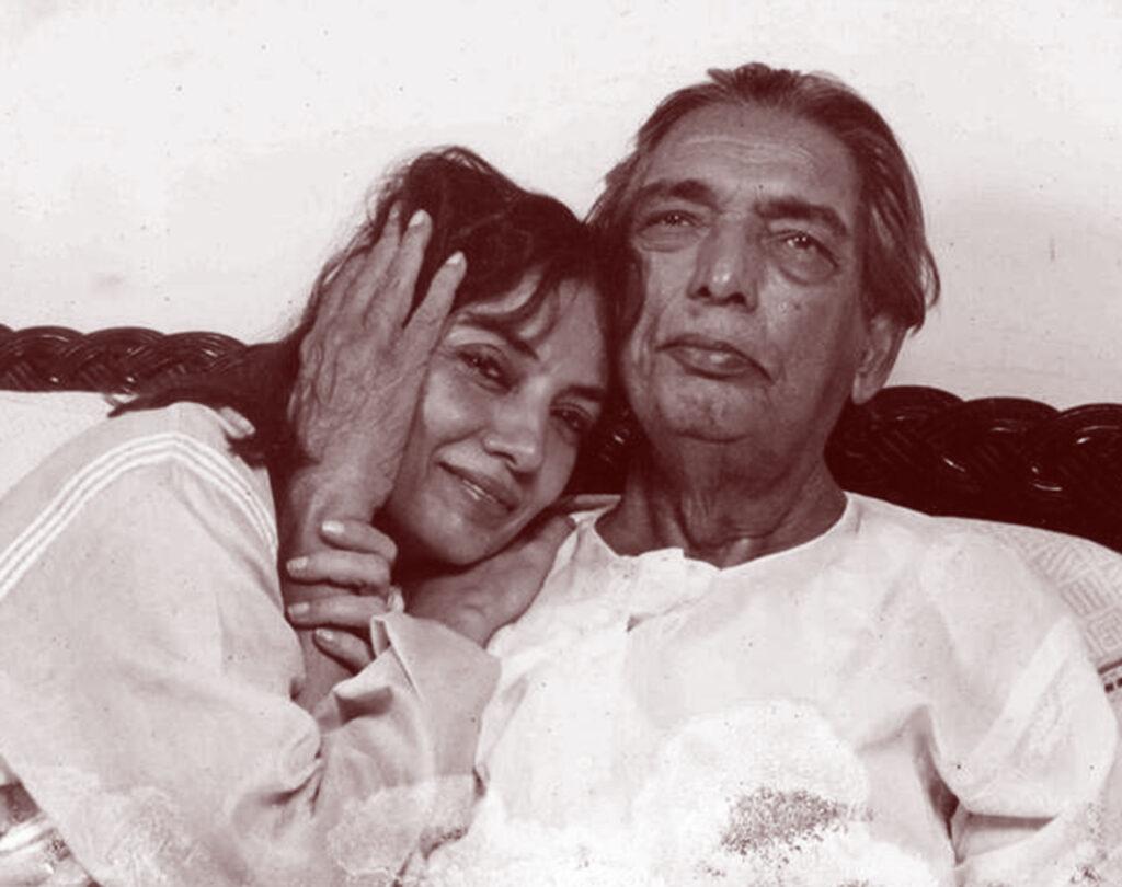 Kaifi Azmi with Shabana Azmi