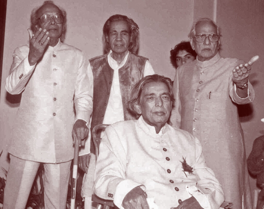Kaifi Azmi with other poets
