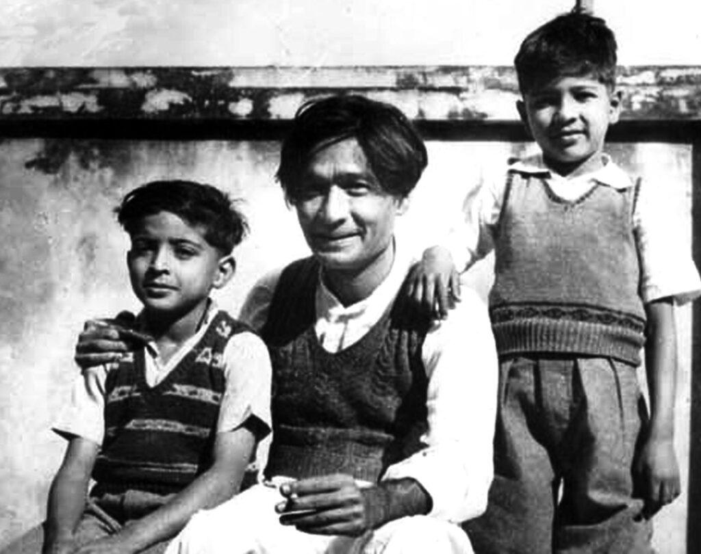 Jaan Nisar Akhtar with Javed Akhtar